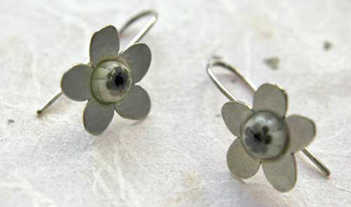 white_millefiori_flower_earrings